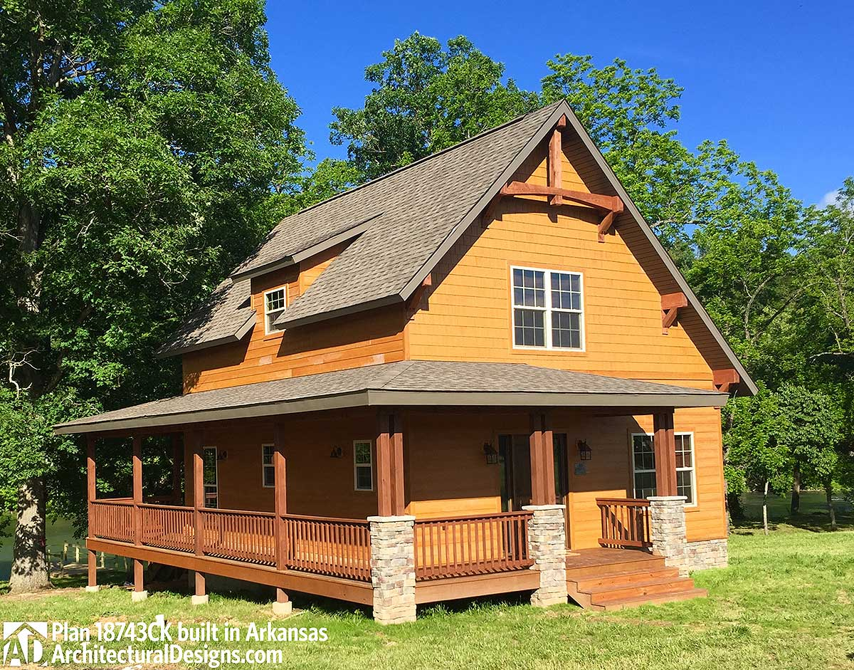 Classic small rustic home plan 18743ck architectural for Hous plans