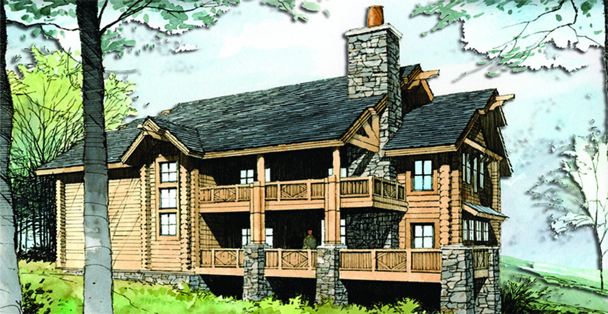Stacked side porches 18770ck architectural designs for Side porch house plans