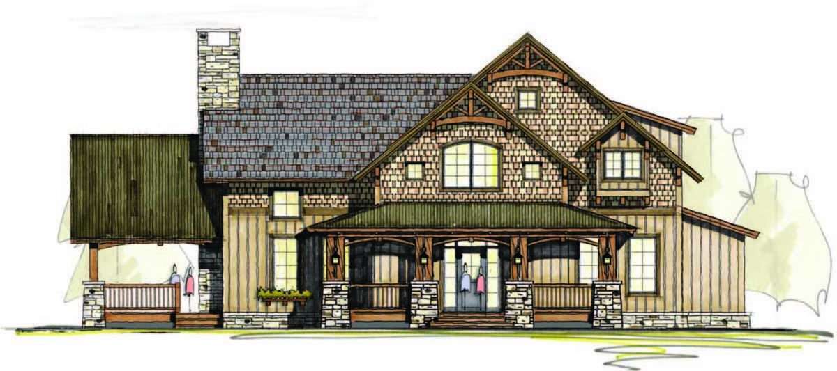 Rustic Luxury With 3 Bedrooms 18783ck Architectural