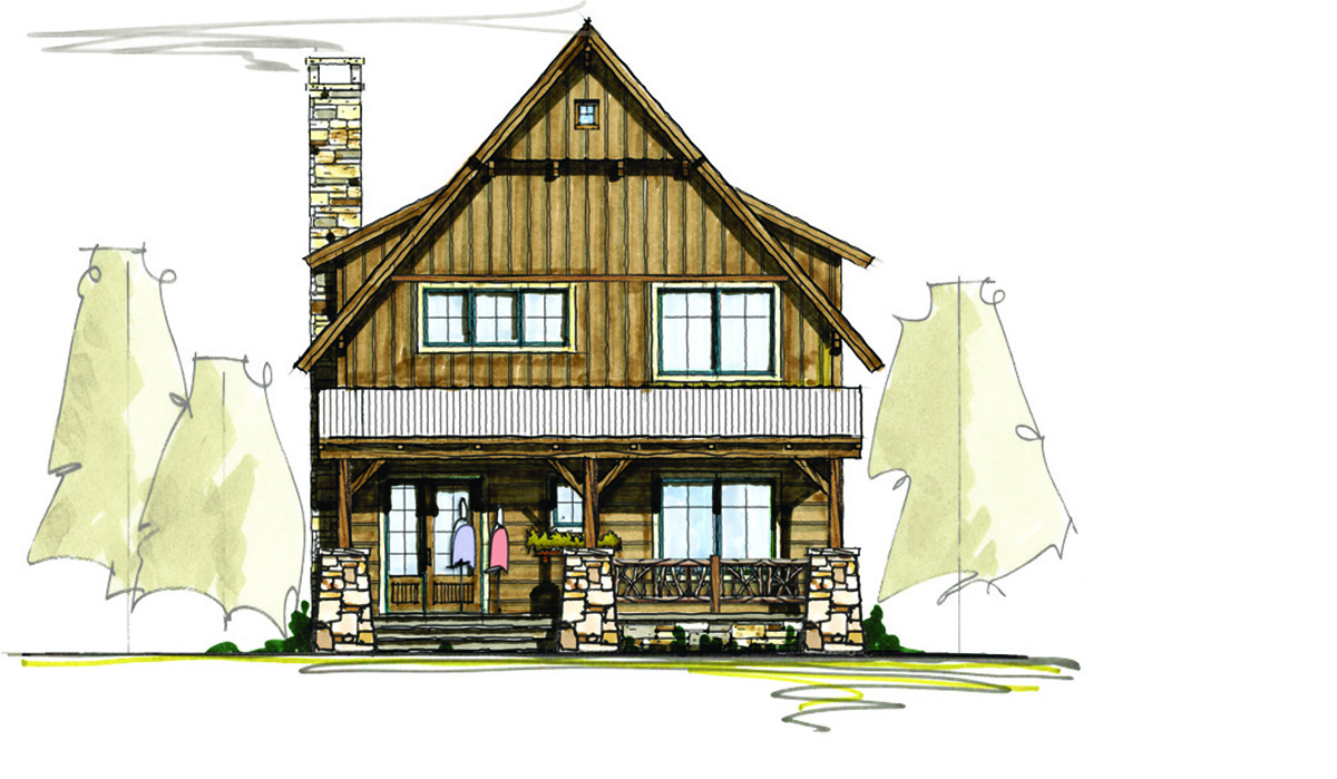 Rustic cottage with options 18795ck architectural for Rustic cottage floor plans