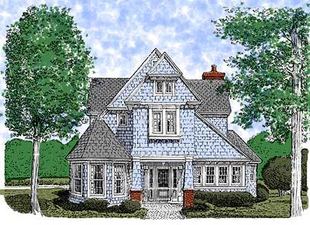 Victorian English Cottage 19122GT Architectural
