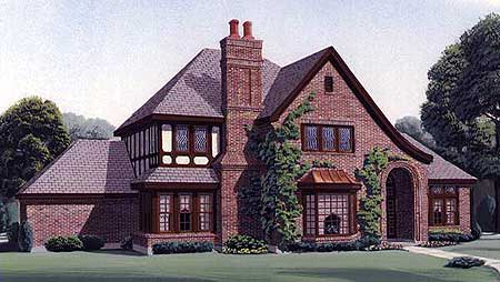 French Tudor Home Plan 19164gt Architectural Designs