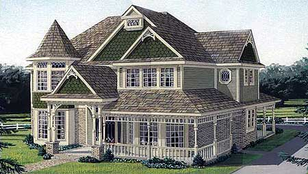 Traditional victorian home plan 19195gt architectural for Traditional victorian house plans
