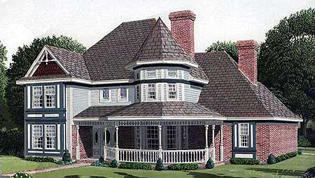Classic victorian home plan 19196gt architectural for Original victorian house plans