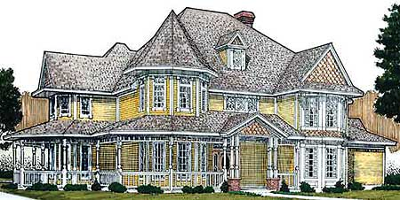 Queen anne victorian style house plans House design plans