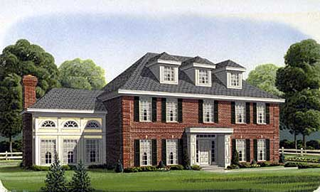 Classic colonial home plan 19207gt 1st floor master for Classic colonial home plans