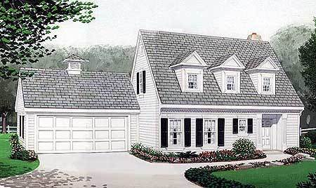 Cape cod home plan 19210gt architectural designs for Large cape cod house plans