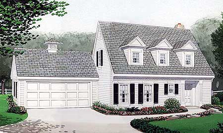 Cape cod home plan 19210gt architectural designs for Cape cod floor plans with loft