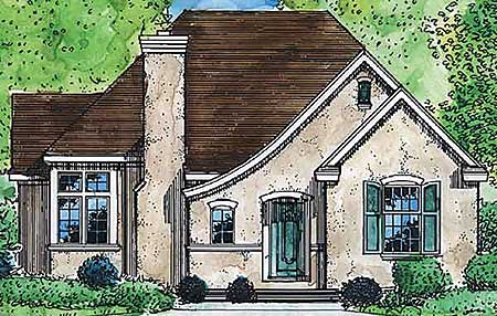 Comfortable cottage home plan 19237gt cottage french for Small french country homes