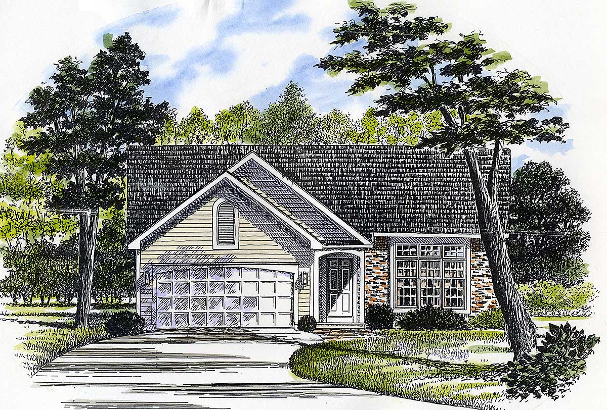 Ranch house plan with optional sun room 19503jf for Sun house plans