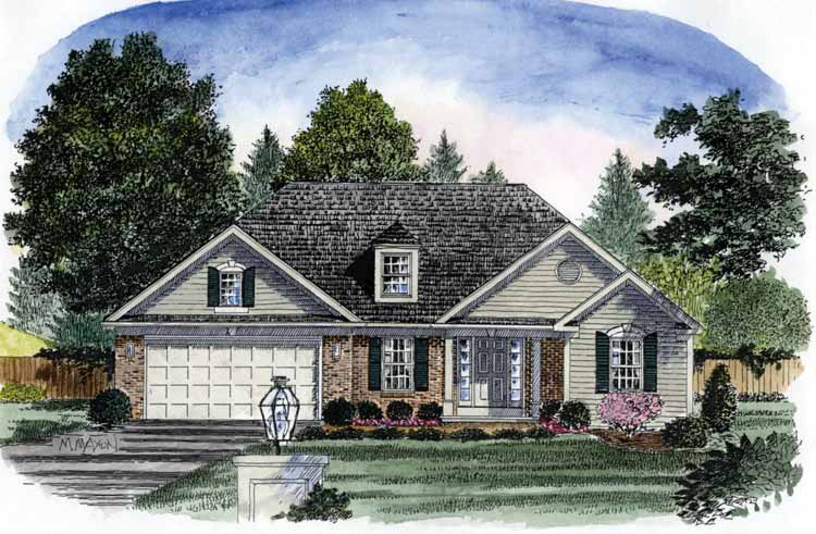 Beginner home plan or empty nester 19578jf for Empty nester home plans designs