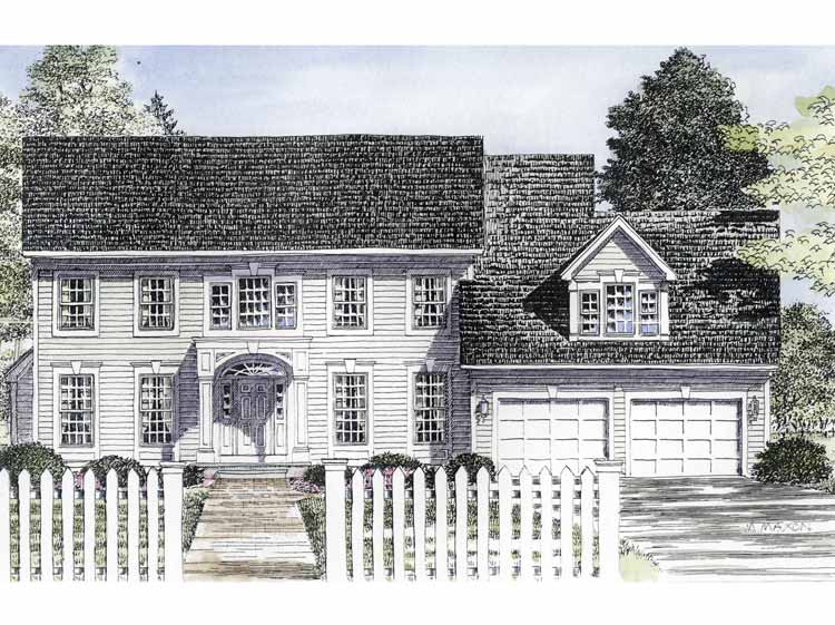 Traditional center hall colonial 19580jf architectural for Center hall colonial house plans