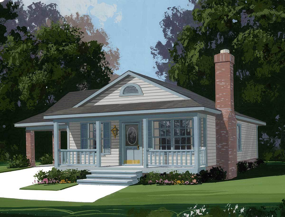 Delightful starter house plan 2000ga architectural for Starter house plans