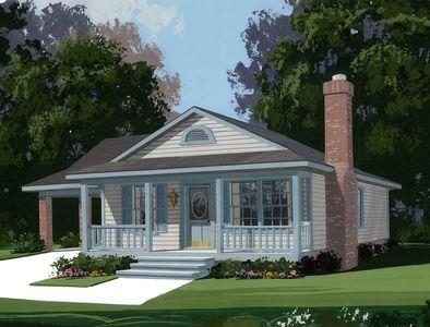 Delightful Starter House Plan - 2000GA thumb - 01