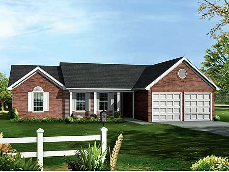 Lovely Brick Ranch 2001ga Cad Available Pdf Ranch