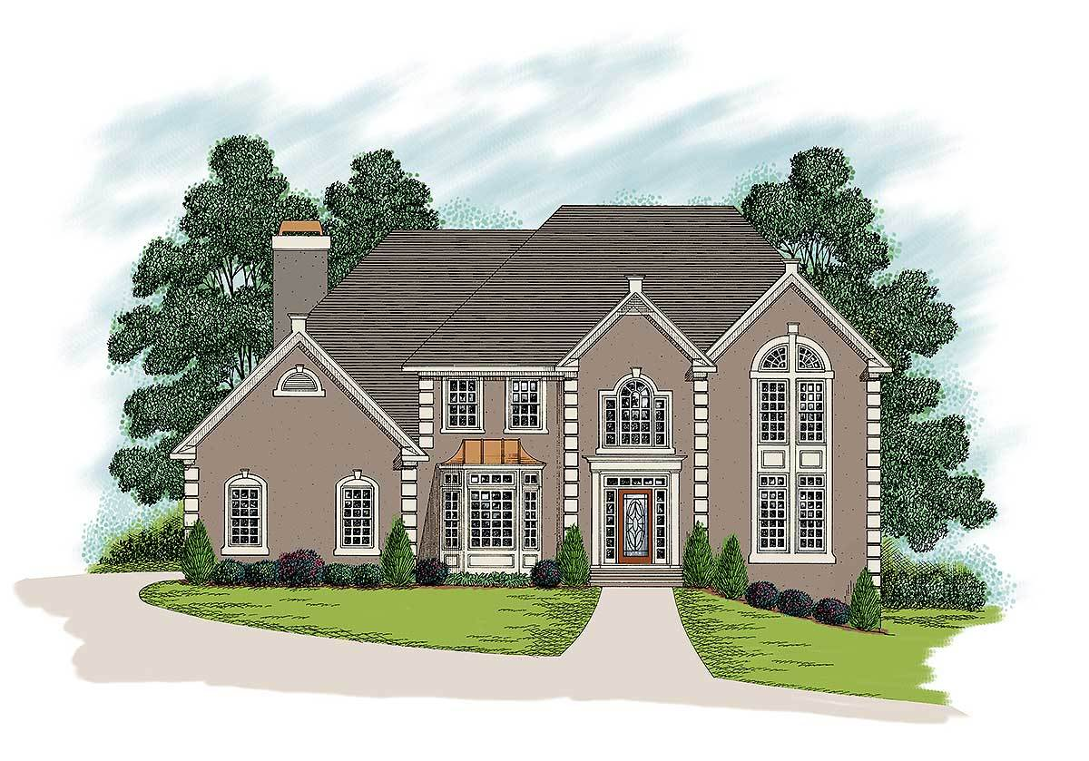 European traditional home plan 20016ga architectural for Traditional home house plans