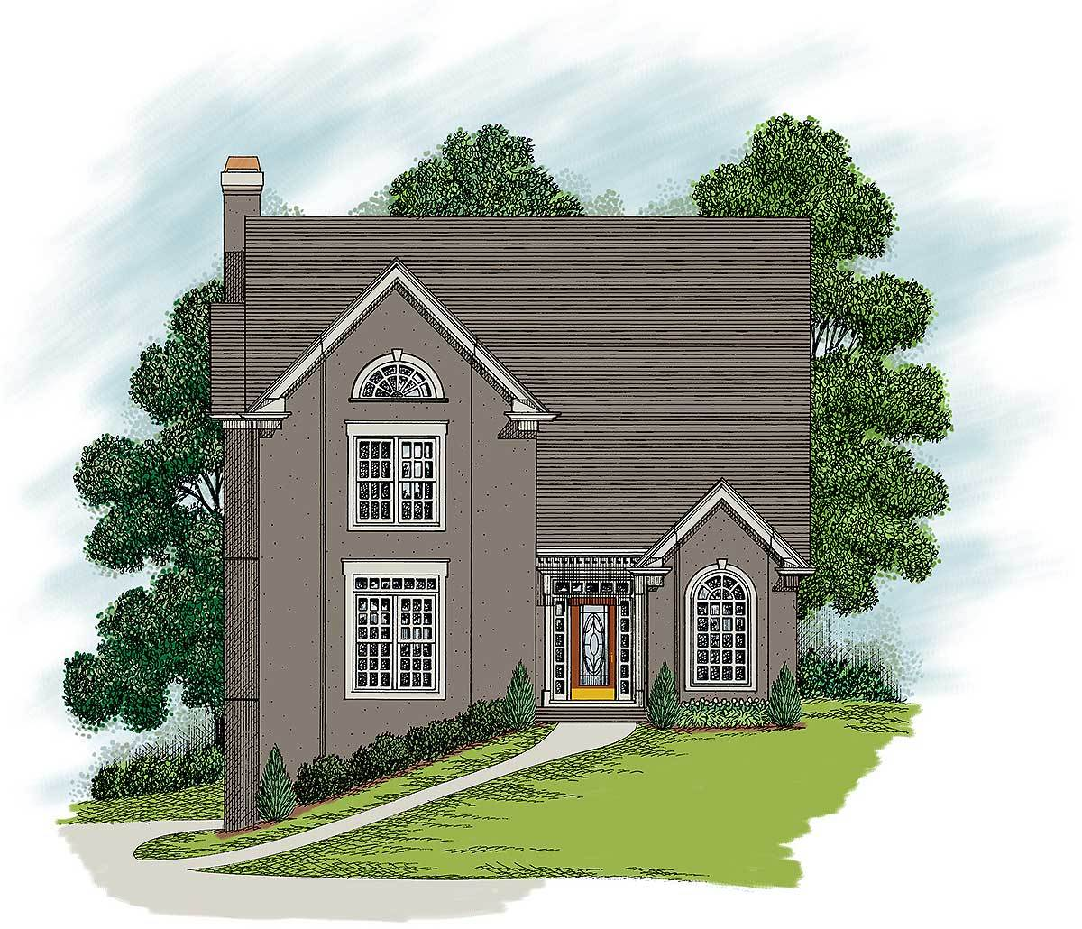 Tri level home plan 20021ga 2nd floor master suite for Tri level house plans