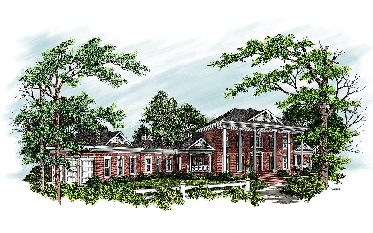 Stately georgian colonial 20026ga architectural for Stately house plans