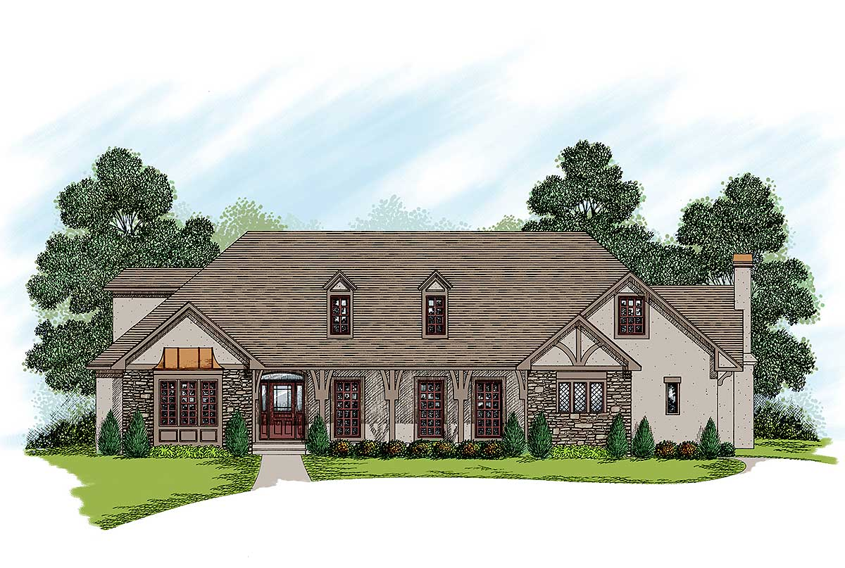 Two story traditional home plan 20027ga 1st floor for House plans with 2 story library