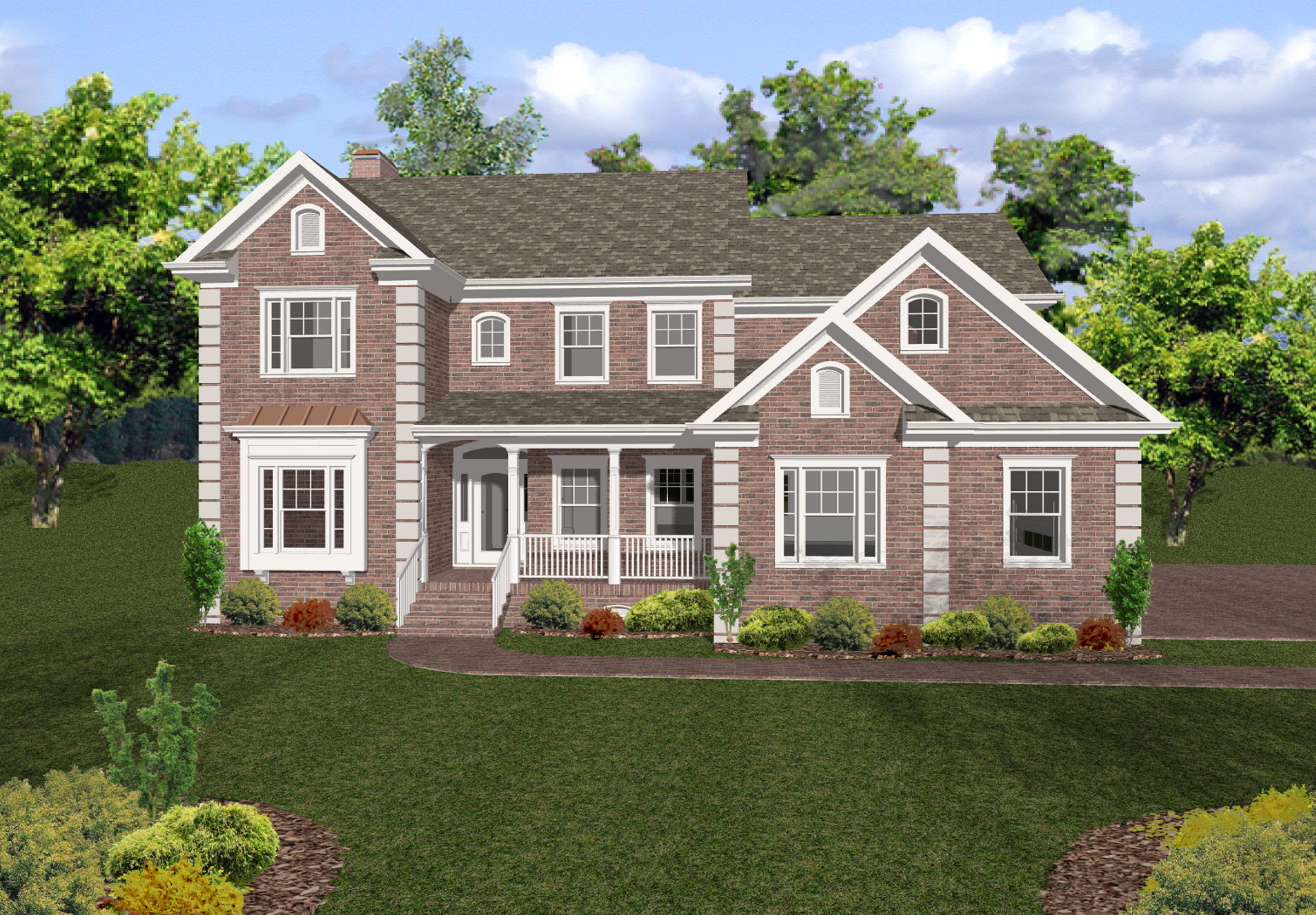 Sophisticated two story home 20032ga 2nd floor master for 2 story elevator