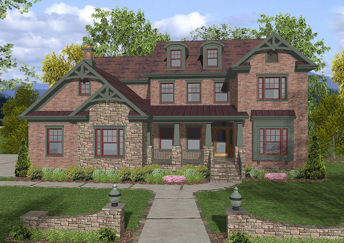 A Gem Of A Craftsman Home Plan - 20051GA