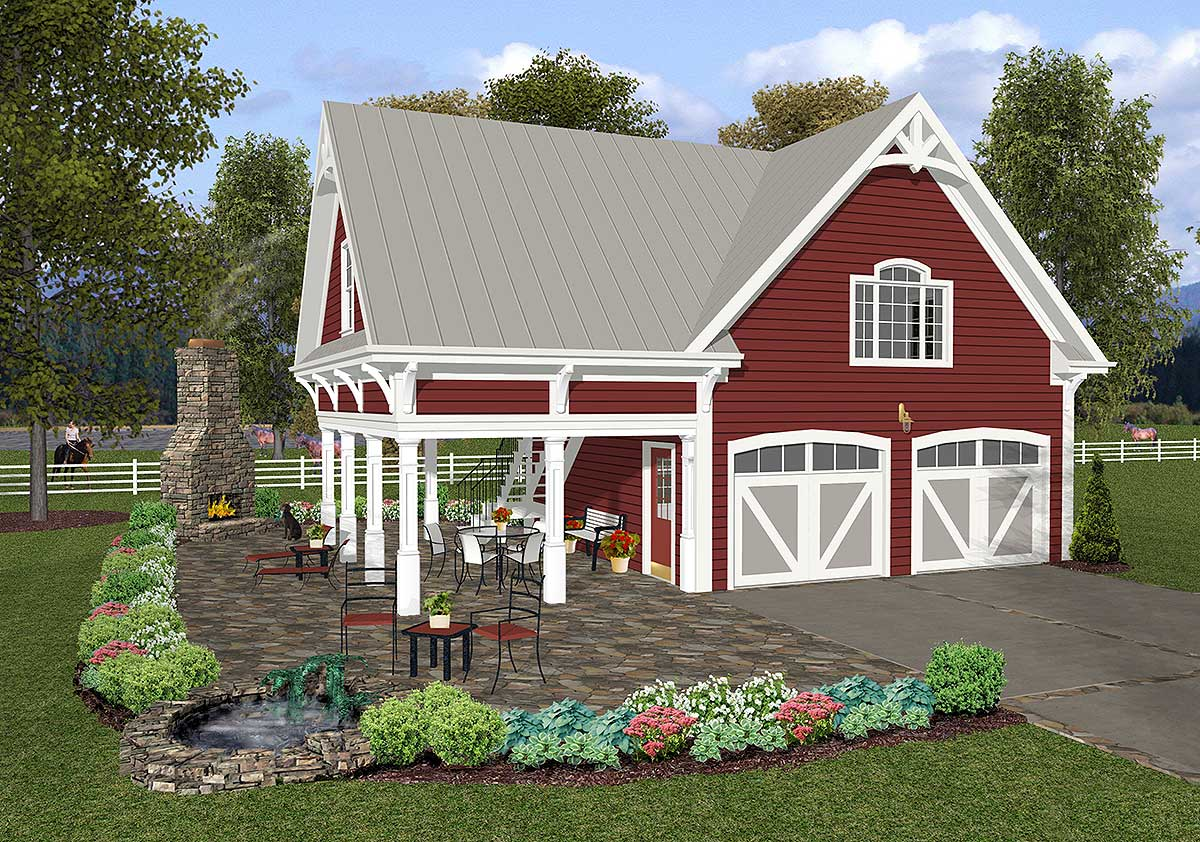 Carriage house plan with elbow room 20055ga for Carriage house floor plans