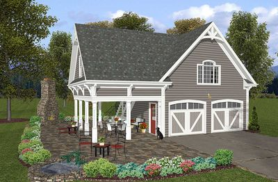 Carriage House Plan with Elbow Room - 20055GA thumb - 02