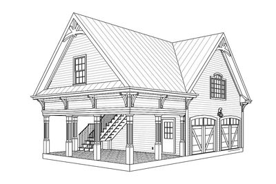 Carriage House Plan With Elbow Room Architectural