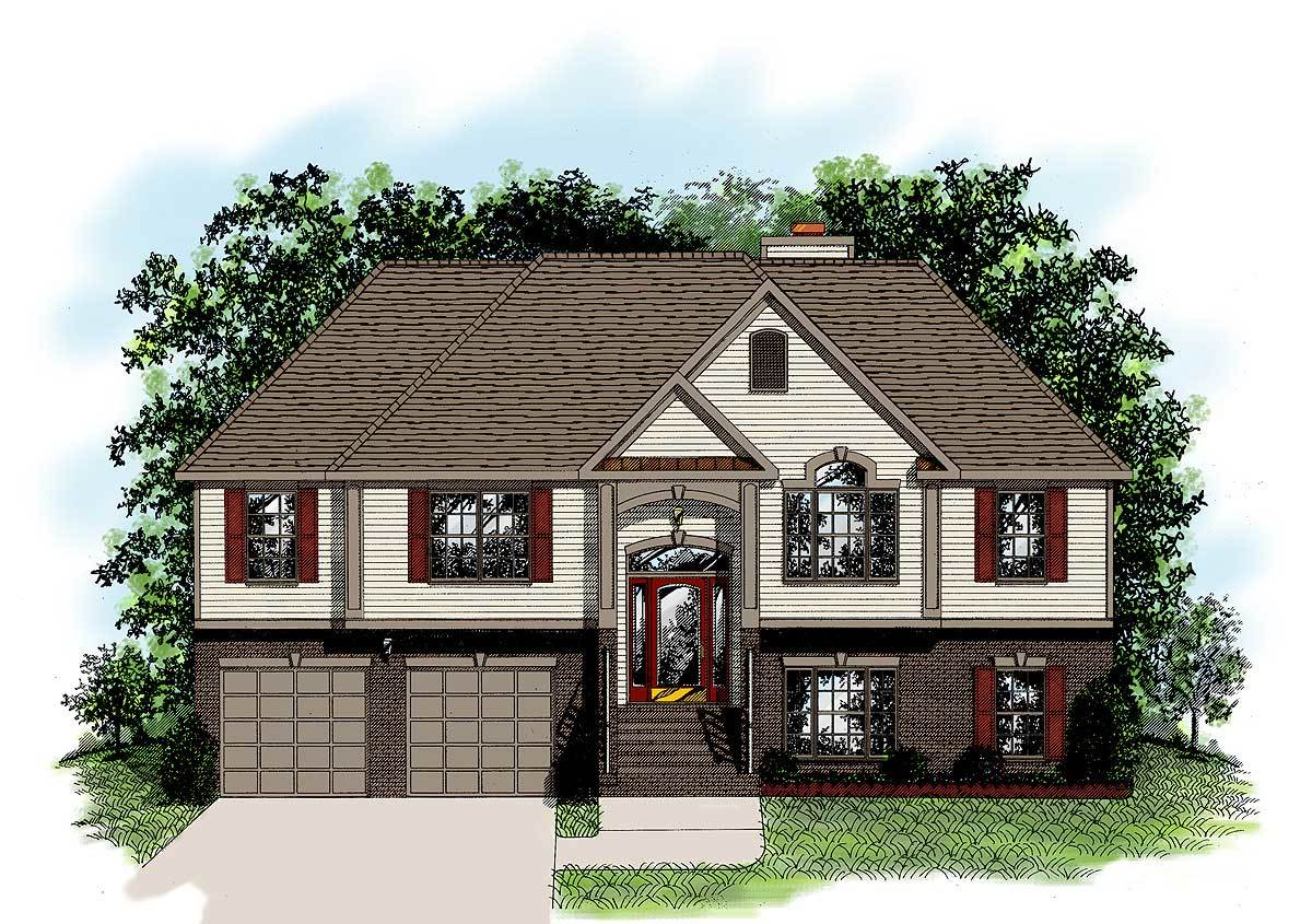Large Split Foyer House Plans : Extraordinary split foyer design ga architectural