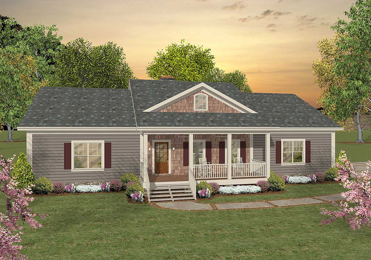 Versatile ranch with large bonus room 20076ga 1st for Ranch house plans with bonus room