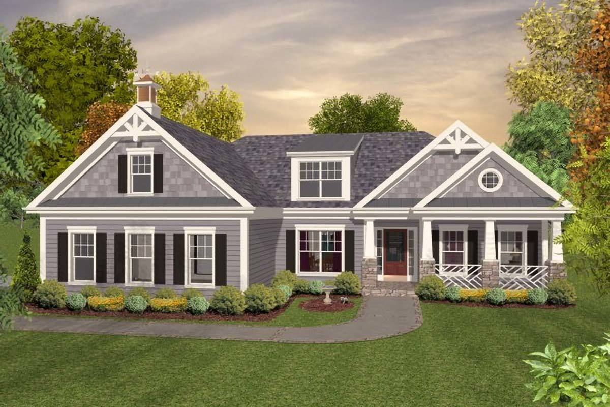 Expandable craftsman home plan 20114ga architectural for Craftsman style ranch house plans