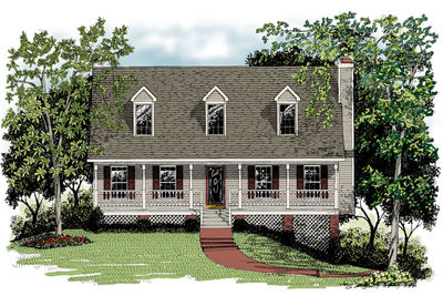 Classic One and One Half Story House Plan 2012GA Architectural