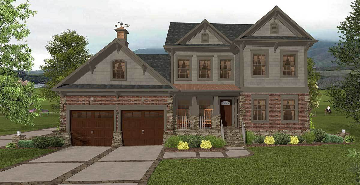 Two story northwest home with gorgeous master 20121ga for Northwest home plans