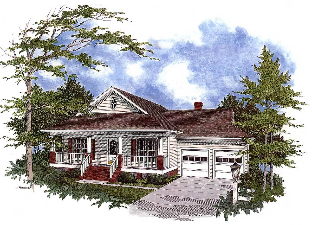 Full featured cozy cottage 2017ga architectural for Cozy cottage home plans