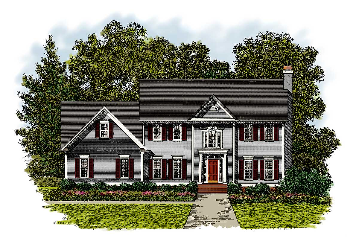 Story Foyer House Plans : Dramatic two story foyer ga nd floor master suite