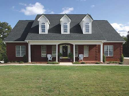 Elegant country porch style home 2025ga architectural for Elegant country homes