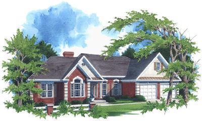 Luxurious Ranch Home Plan - 2027GA thumb - 01