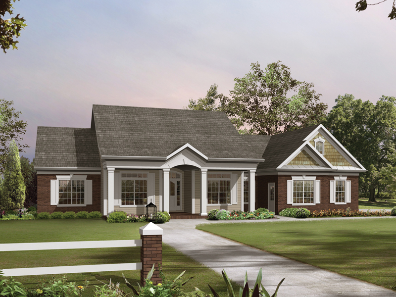 Architectural designs for Southern style ranch home plans