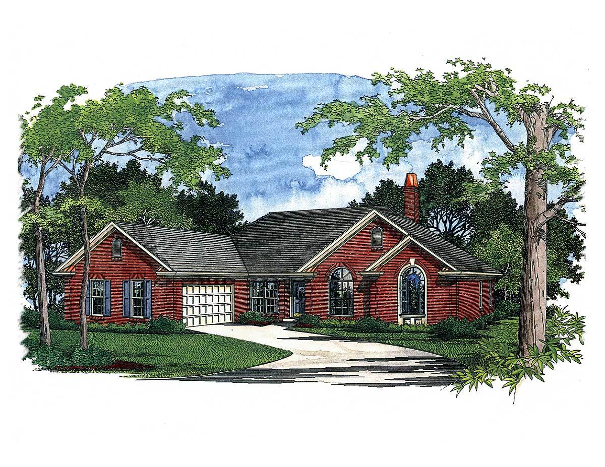 Traditional ranch house plan 2037ga architectural for Traditional ranch house