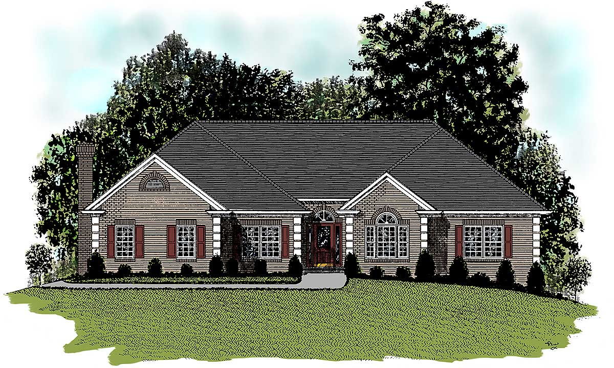 Stately ranch home plan 2041ga architectural designs for Stately house plans
