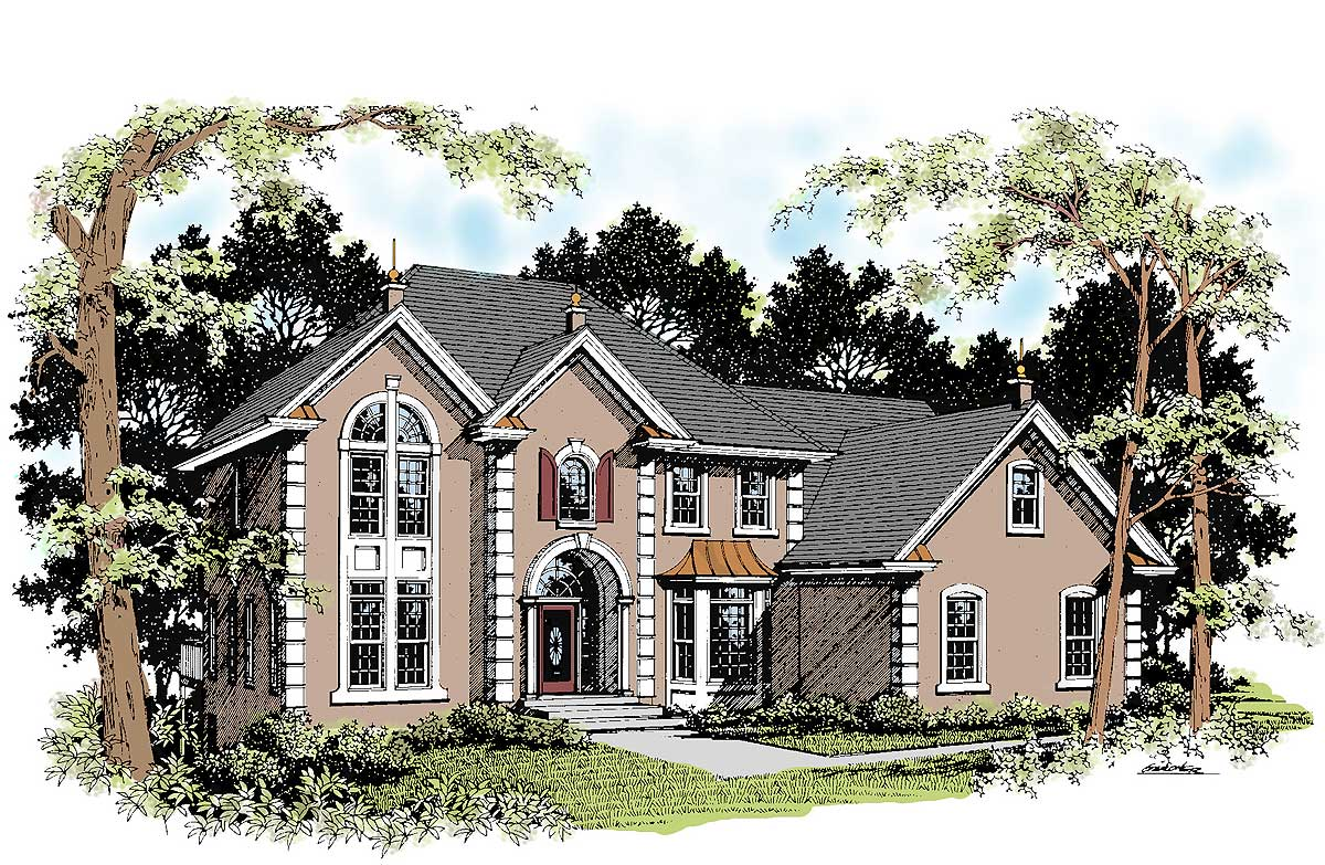 Foyer Home Plans : Dramatic two story foyer design ga architectural