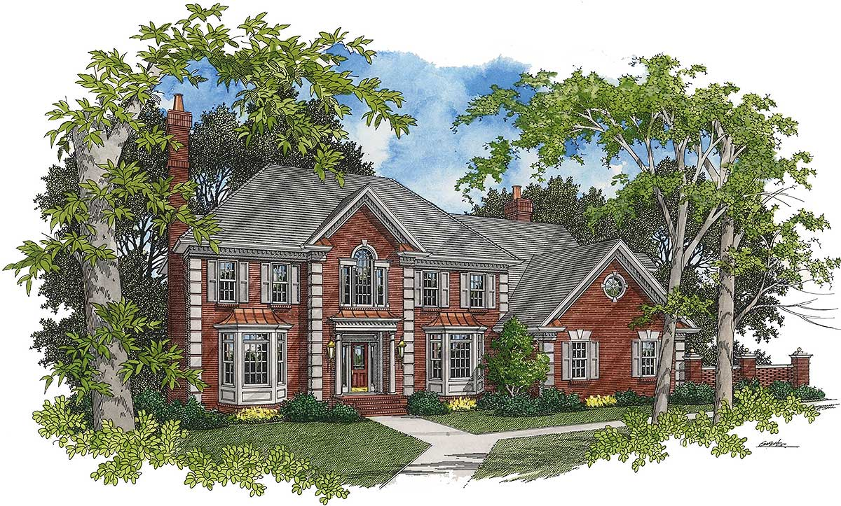Timeless traditional 2055ga architectural designs for Timeless house plans