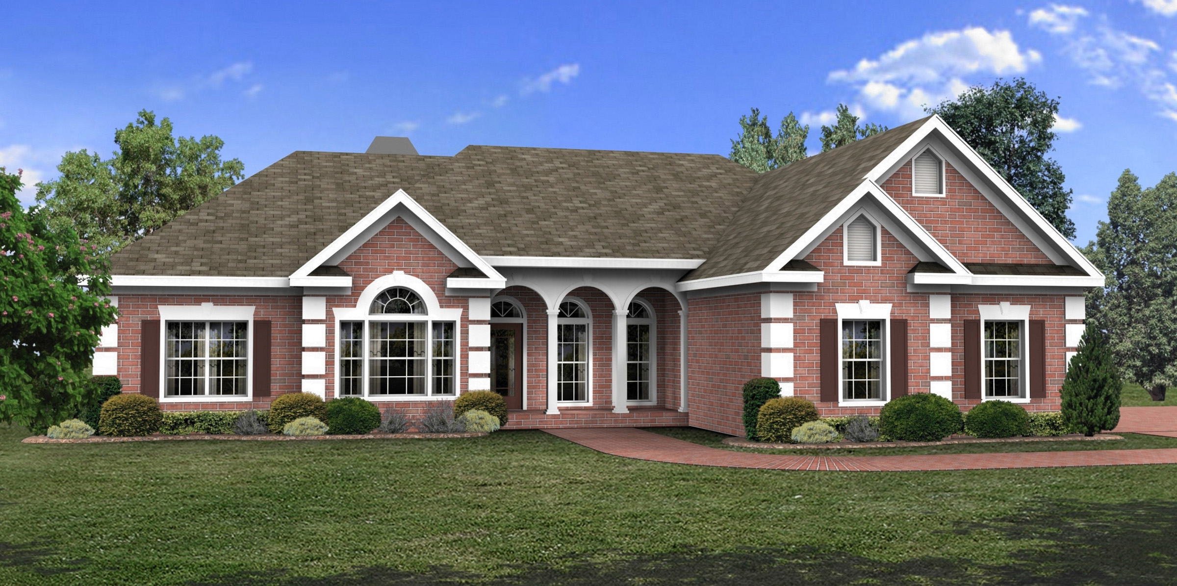 Luxurious ranch home plan 2027ga ranch 1st floor for Ranch style house plans with bonus room
