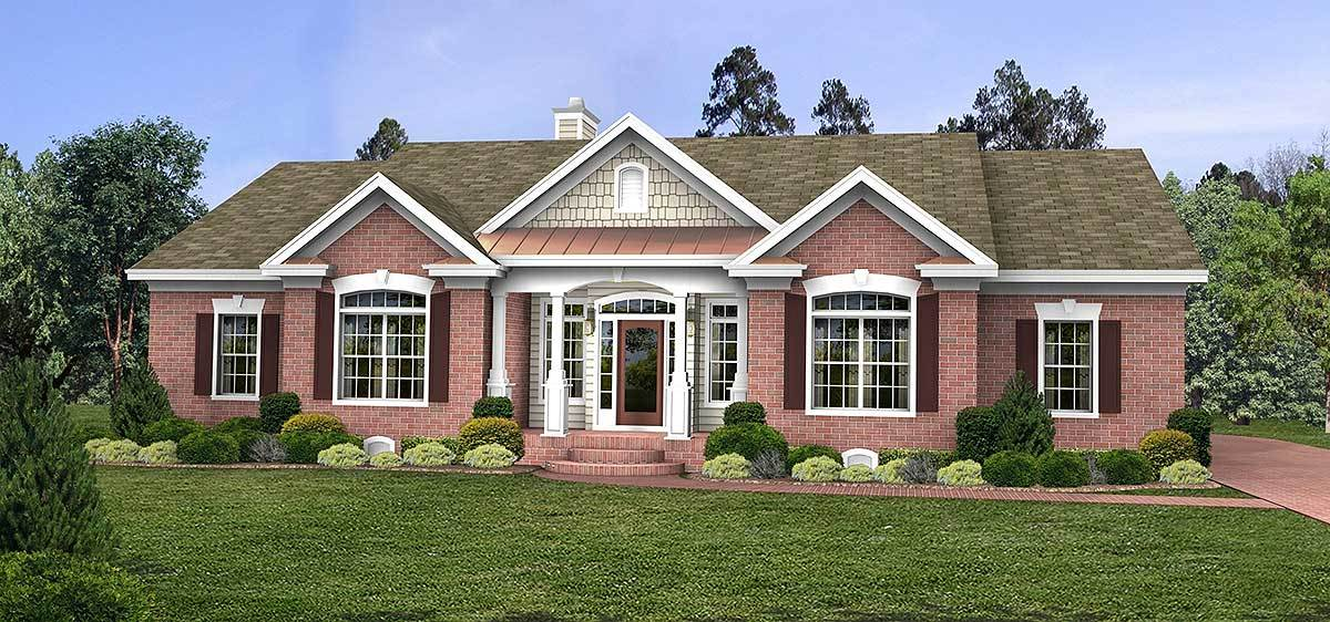 Traditional country farmhouse 2065ga architectural for Traditional country house plans