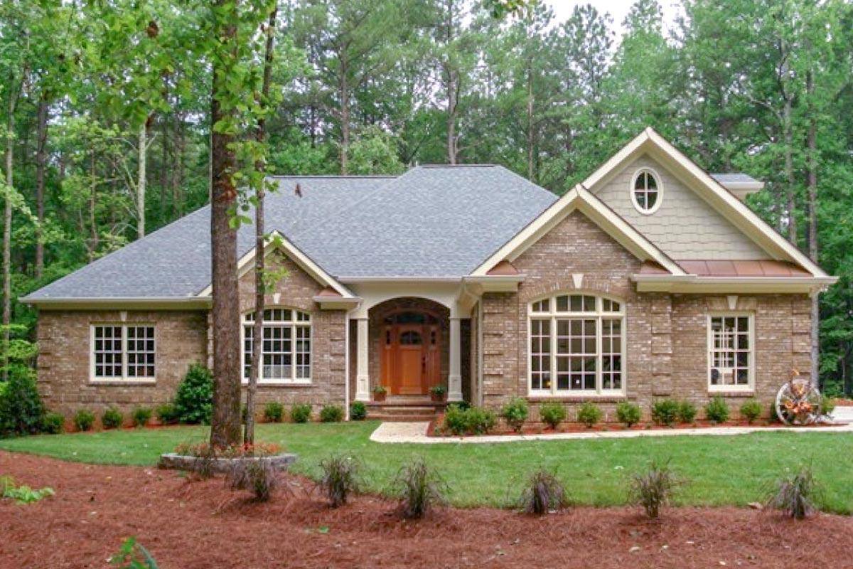 Architectural Design Home Floor Plans: Classic Brick Ranch Home Plan - 2067GA