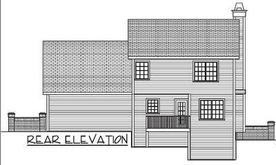 Three Bedroom Starter Home Plan - 2076GA thumb - 02