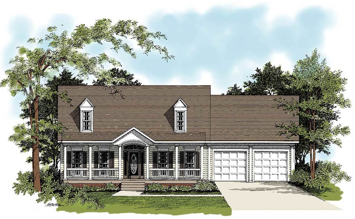 Traditional country home plan 2083ga architectural for Traditional country homes