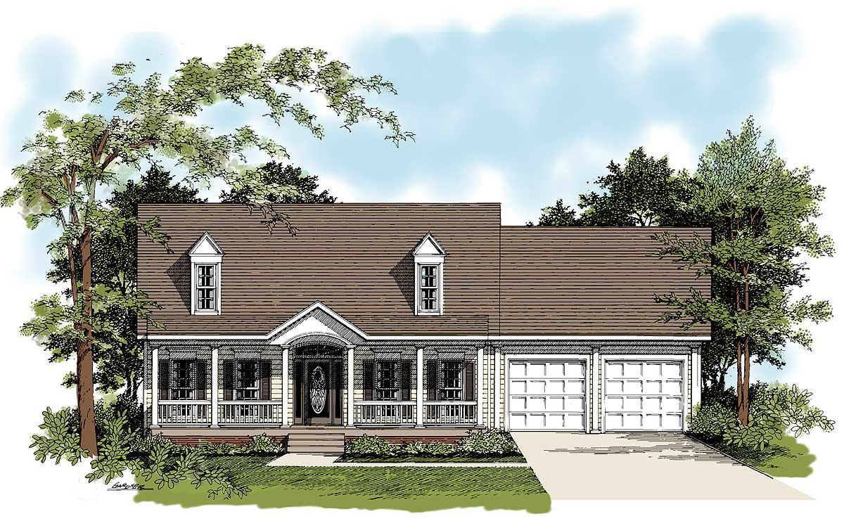 Traditional country home plan 2083ga architectural for Traditional home house plans