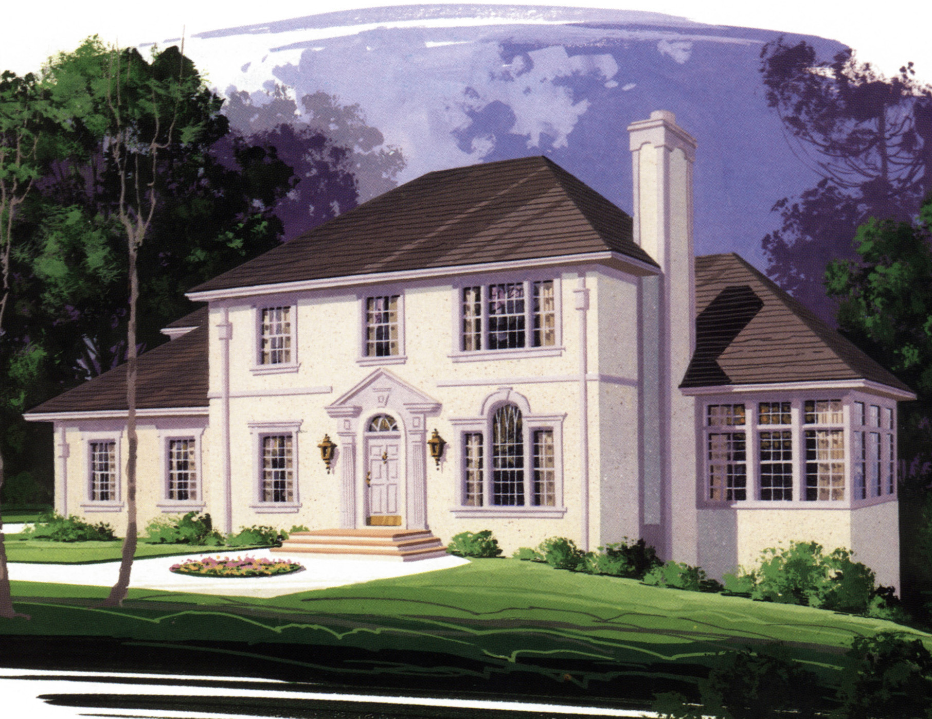 European stucco home plan 2099ga 2nd floor master for Stucco home plans