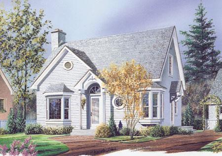English Cottage 2103DR 1st Floor Master Suite CAD